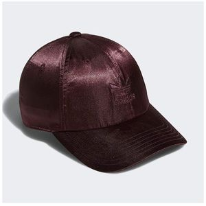 adidas originals // maroon satin adjustable hat